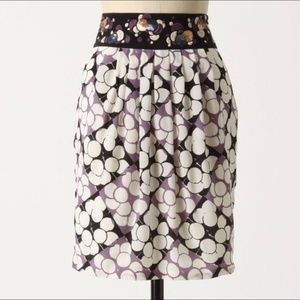Anthropologie Floreat Ocean Mist pencil skirt 10